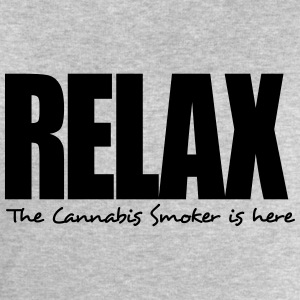 relax the cannabis smoker is here - Men's Sweatshirt by Stanley & Stella