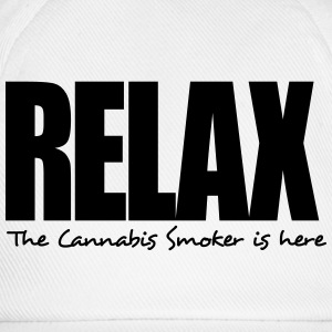 relax the cannabis smoker is here - Baseball Cap