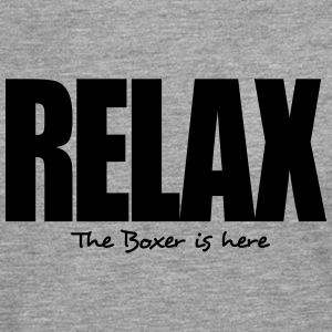 relax the boxer is here - Men's Premium Longsleeve Shirt