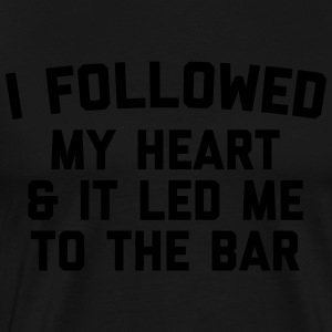 Led Me To Bar Funny Quote Sweaters - Mannen Premium T-shirt