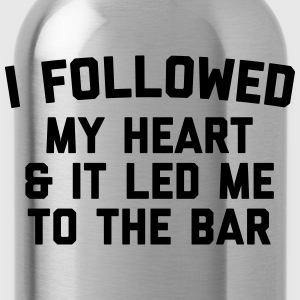 Led Me To Bar Funny Quote Toppar - Vattenflaska