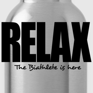 relax the biathlete is here - Water Bottle