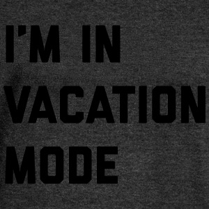 Vacation Mode Funny Quote T-Shirts - Women's Boat Neck Long Sleeve Top