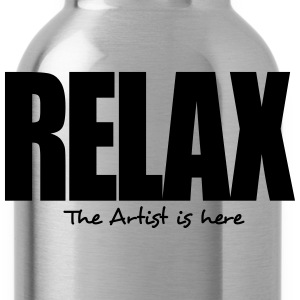 relax the artist is here - Water Bottle