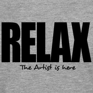 relax the artist is here - Men's Premium Longsleeve Shirt