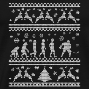 ICE HOCKEY EVOLUTION CHRISTMAS EDITION Sports wear - Men's Premium T-Shirt