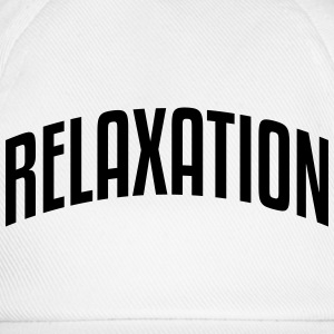 relaxation stylish arched text logo - Baseball Cap