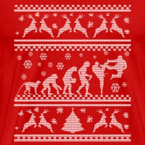 KARATE EVOLUTION WEIHNACHTSEDITION Långärmade T-shirts - Premium-T-shirt herr