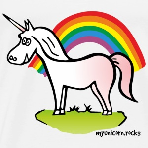 Unicorn and Rainbow - licorne, arc en ciel Bodys Bébés - T-shirt Premium Homme