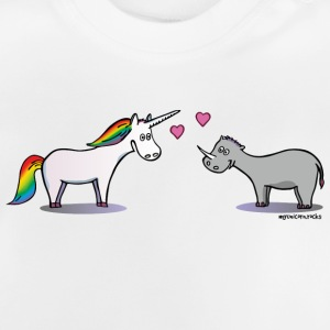 Unicorn & Rhino in love T-shirts - Baby-T-shirt