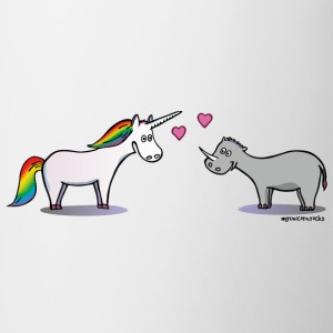 Unicorn & Rhino in love Toppe - Kop/krus