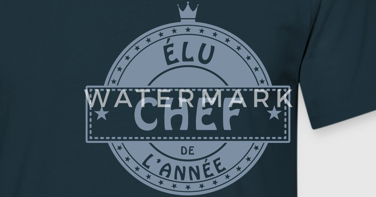 T shirt elu chef patron responsable cuisinier spreadshirt for Cuisinier 71