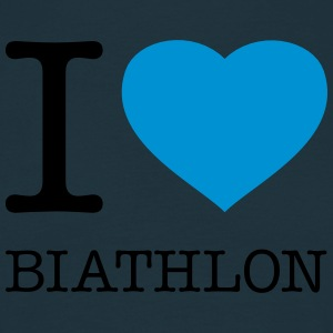 I LOVE BIATHLON - Men's T-Shirt