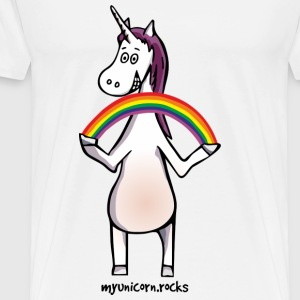 Magic unicorn with rainbow Peluches - T-shirt Premium Homme