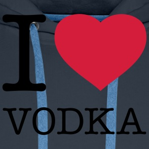 I LOVE VODKA - Sweat-shirt à capuche Premium pour hommes