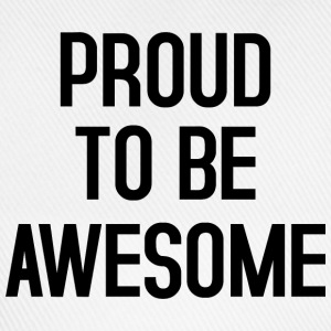 Proud to be awesome typo black - Baseballkappe