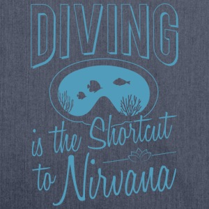 Diving is the Shortcut to Nirvana - Schultertasche aus Recycling-Material
