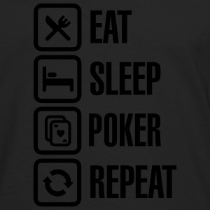 Eat - sleep - poker - repeat T-shirts - Långärmad premium-T-shirt herr