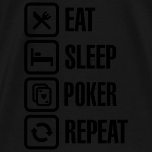 Eat - sleep - poker - repeat Felpe - Maglietta Premium da uomo