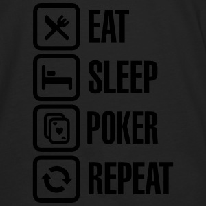 Eat - sleep - poker - repeat Gensere - Premium langermet T-skjorte for menn