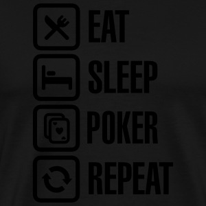 Eat - sleep - poker - repeat Tabliers - T-shirt Premium Homme