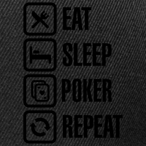 Eat - sleep - poker - repeat Tazze & Accessori - Snapback Cap