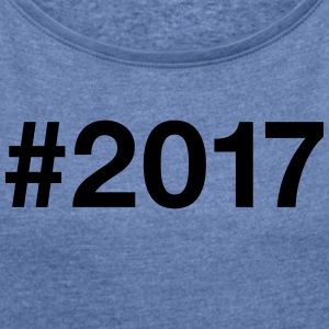 2017 - Women's T-shirt with rolled up sleeves