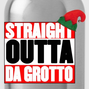 Straight Outta Da Grotto - Christmas Elf - Water Bottle
