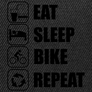Eat,sleep,bike,repeat BicicletaT-shirt - Gorra Snapback