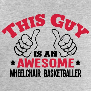 this guy is an awesome wheelchair basket - Men's Sweatshirt by Stanley & Stella