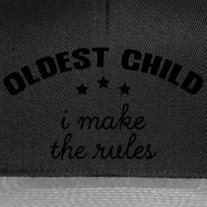 Oldest - Middle - Youngest Child (1/3) T-Shirts - Snapback Cap