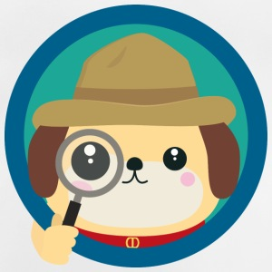 Dog Detective with magnifying glass Shirts - Baby T-Shirt