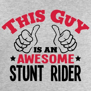 this guy is an awesome stunt rider 2col - Men's Sweatshirt by Stanley & Stella