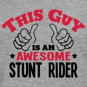 this guy is an awesome stunt rider 2col - Men's Premium Longsleeve Shirt