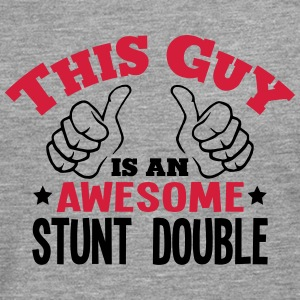this guy is an awesome stunt double 2col - Men's Premium Longsleeve Shirt