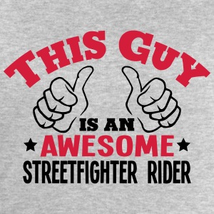 this guy is an awesome streetfighter rid - Men's Sweatshirt by Stanley & Stella