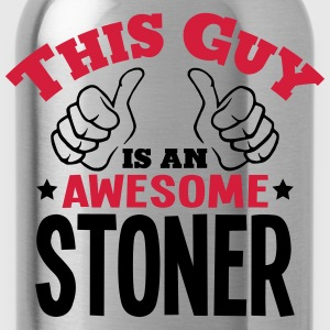 this guy is an awesome stoner 2col - Water Bottle