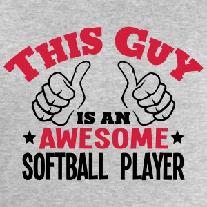 this guy is an awesome softball player 2 - Men's Sweatshirt by Stanley & Stella