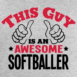 this guy is an awesome softballer 2col - Men's Sweatshirt by Stanley & Stella