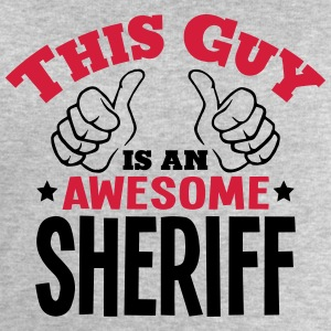 this guy is an awesome sheriff 2col - Men's Sweatshirt by Stanley & Stella