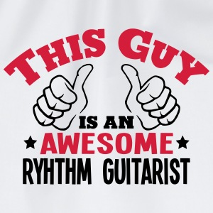 this guy is an awesome ryhthm guitarist  - Drawstring Bag