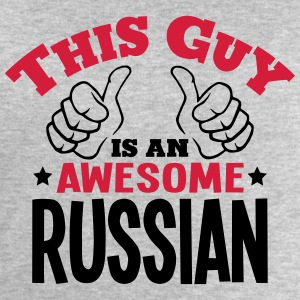 this guy is an awesome russian 2col - Men's Sweatshirt by Stanley & Stella