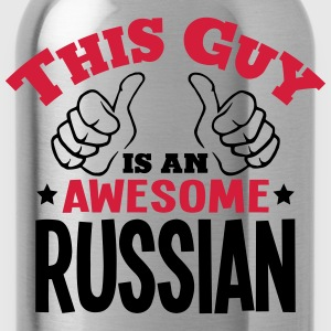 this guy is an awesome russian 2col - Water Bottle