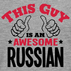 this guy is an awesome russian 2col - Men's Premium Longsleeve Shirt