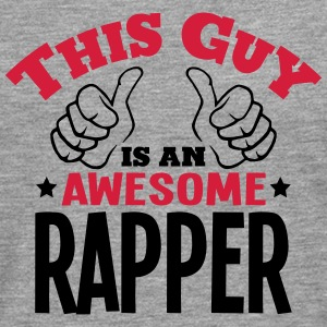 this guy is an awesome rapper 2col - Men's Premium Longsleeve Shirt