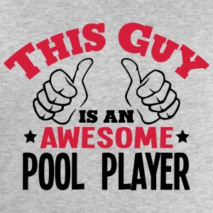this guy is an awesome pool player 2col - Men's Sweatshirt by Stanley & Stella