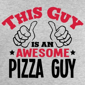 this guy is an awesome pizza guy 2col - Men's Sweatshirt by Stanley & Stella