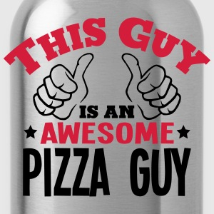 this guy is an awesome pizza guy 2col - Water Bottle