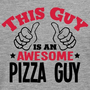 this guy is an awesome pizza guy 2col - Men's Premium Longsleeve Shirt