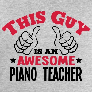 this guy is an awesome piano teacher 2co - Men's Sweatshirt by Stanley & Stella